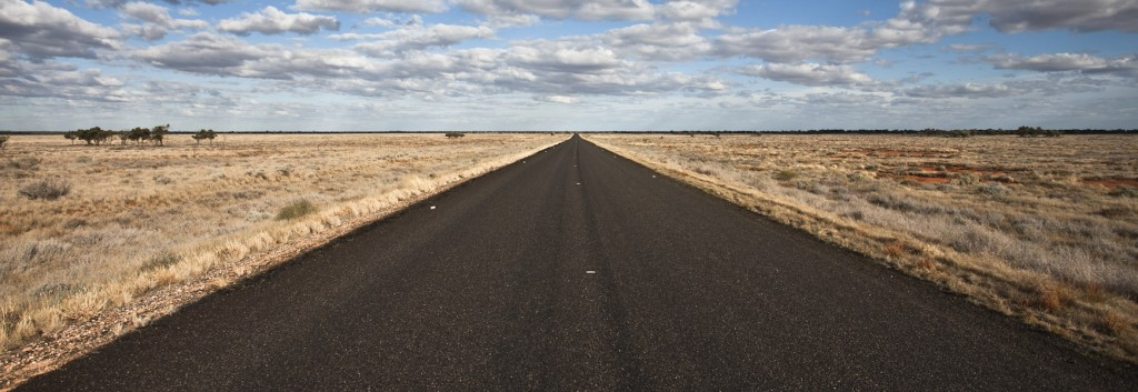 The wide open spaces of central Australia