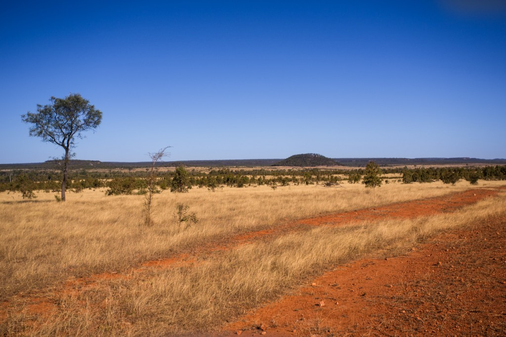 View south from the red dirt of the Turton Highway