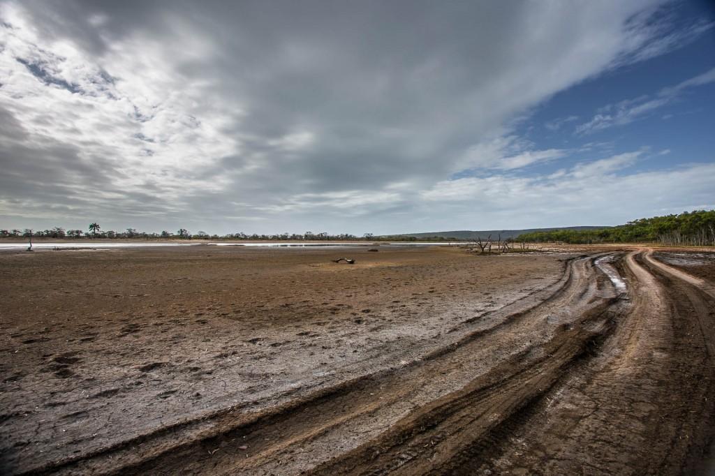 Salt mud flats
